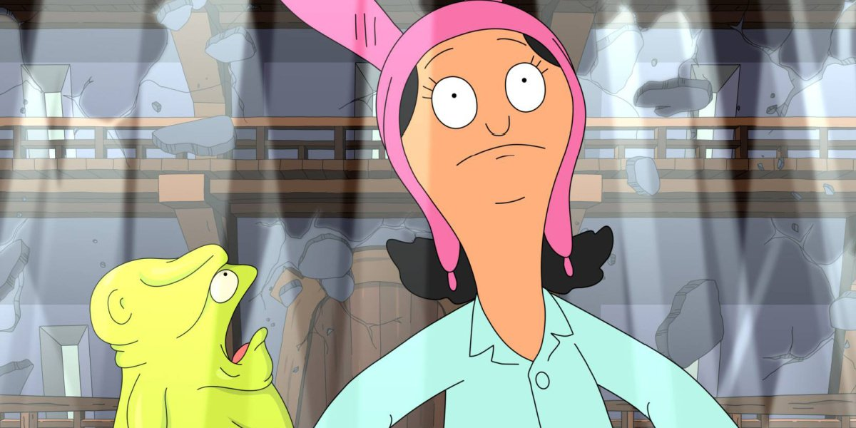 Louise in her fever dream in Bob's Burgers.