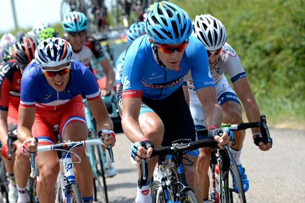 David Millar in escape group, Tour de France 2013, stage 14