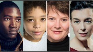 My Name Is Leon has a top cast. from left Malachi Kirby, Cole Martin, Monica Dolan and Olivia Williams.