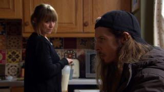 Ryan reveals something to Rhona in Emmerdale