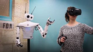 Reachy Robot Takes Commands Over VR