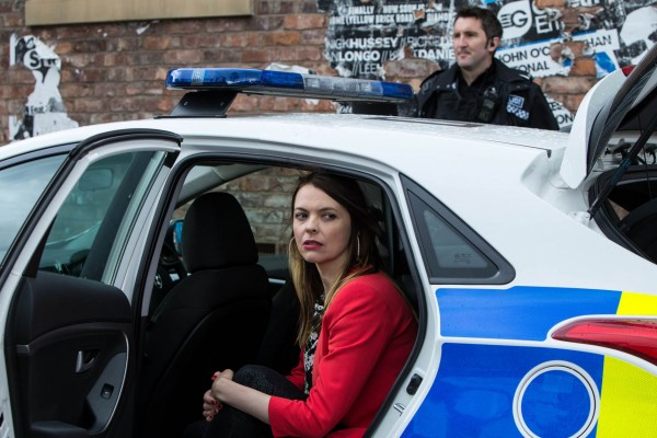 Kate Ford plays Tracy Barlow on Coronation Street