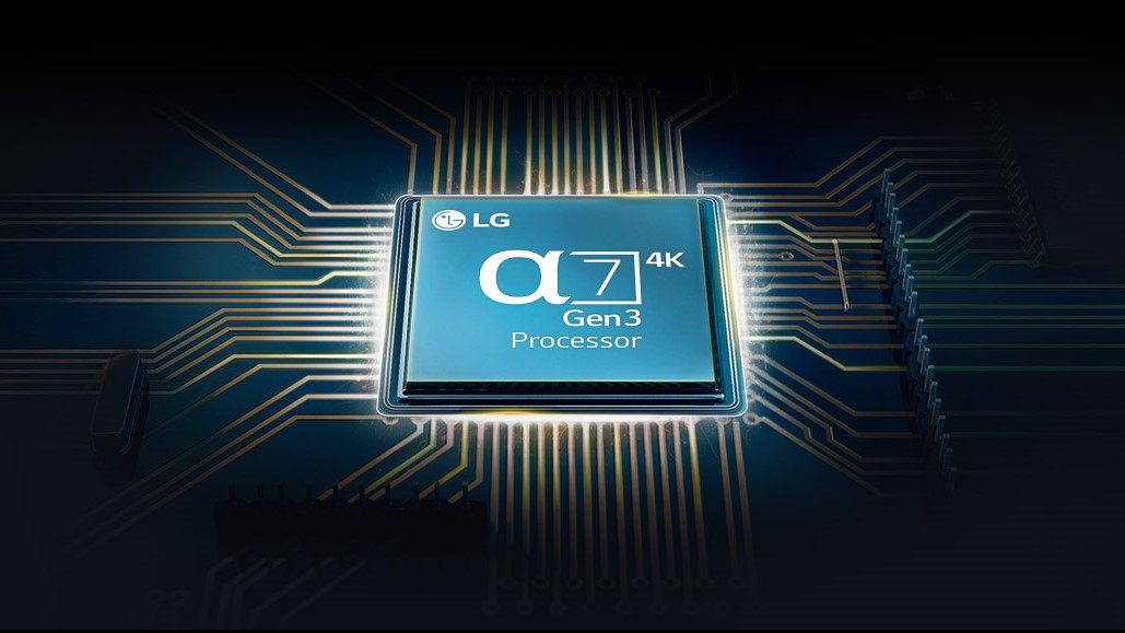 LG's processor fitted in the LG Nano 90