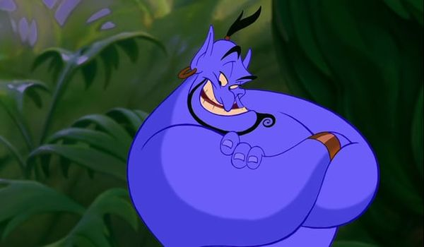 The Genie voiced by Robin Williams in Aladdin