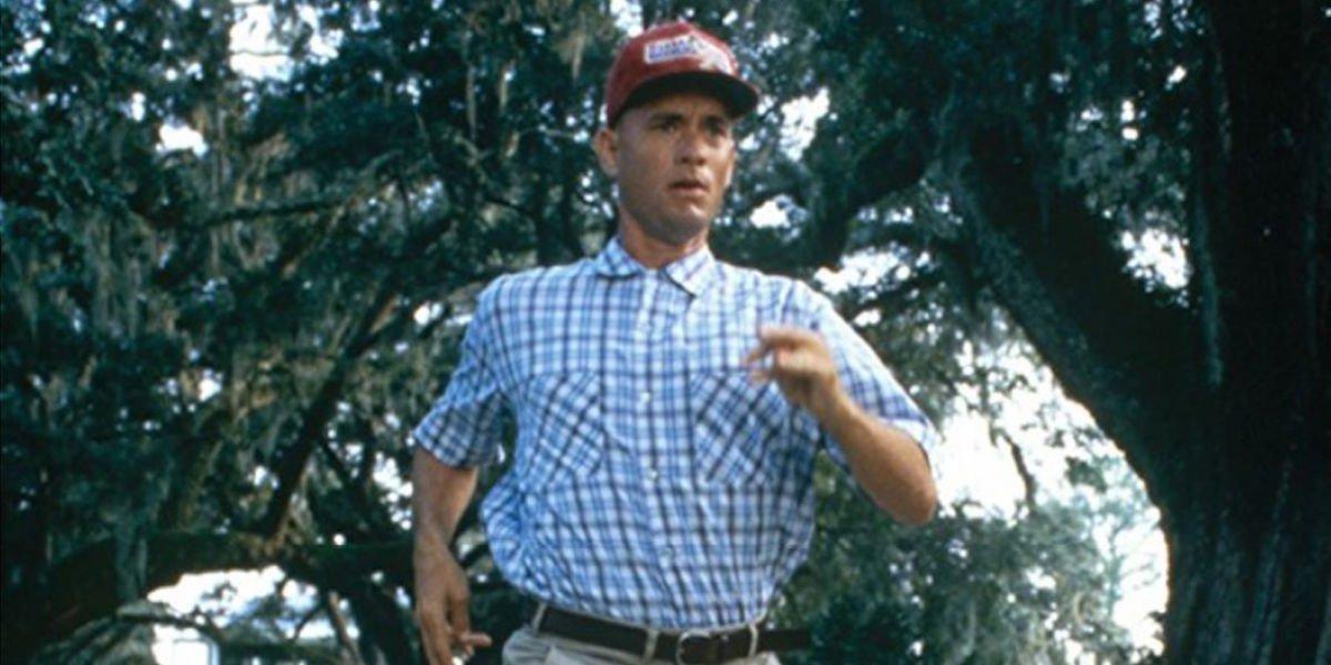 Tom Hanks running as Forrest Gump