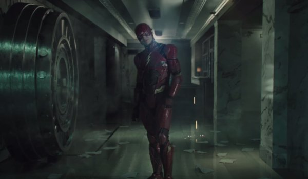 Suicide Squad The Flash taunts a criminal in a bank vault