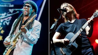[L-R] Nile Rodgers and Steven Wilson