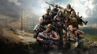 A selection of Warzone characters, one reaching out to invite you to join