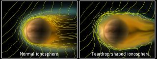 Comet-Like Ionosphere at Venus