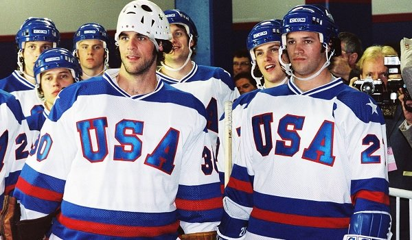 Miracle Team USA players suited for the game