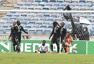 Gabadinho Mhango celebrating his goal