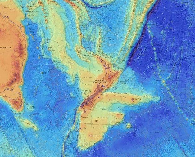 Continente perdido da Nova Zelandia mapeado em detalhes sem precedentes