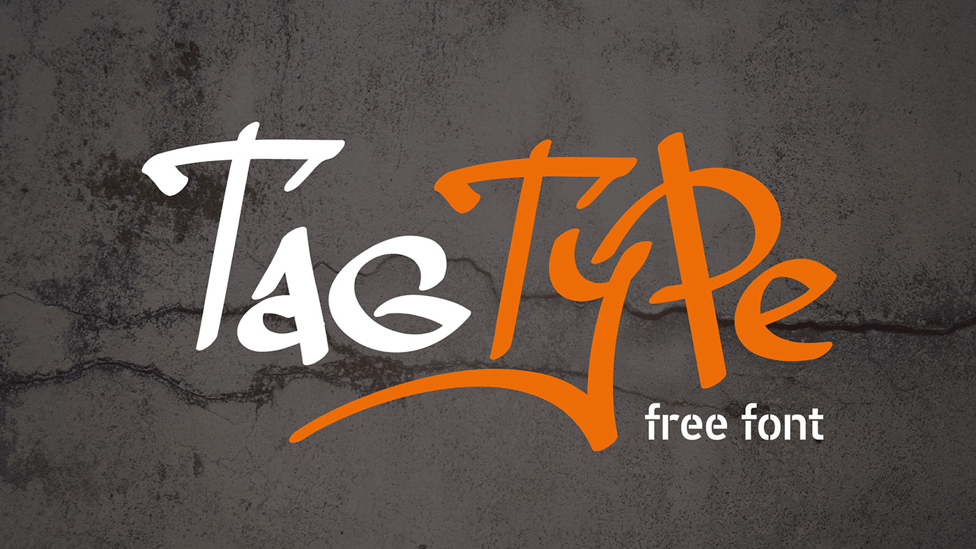 Free graffiti fonts: Tag Type