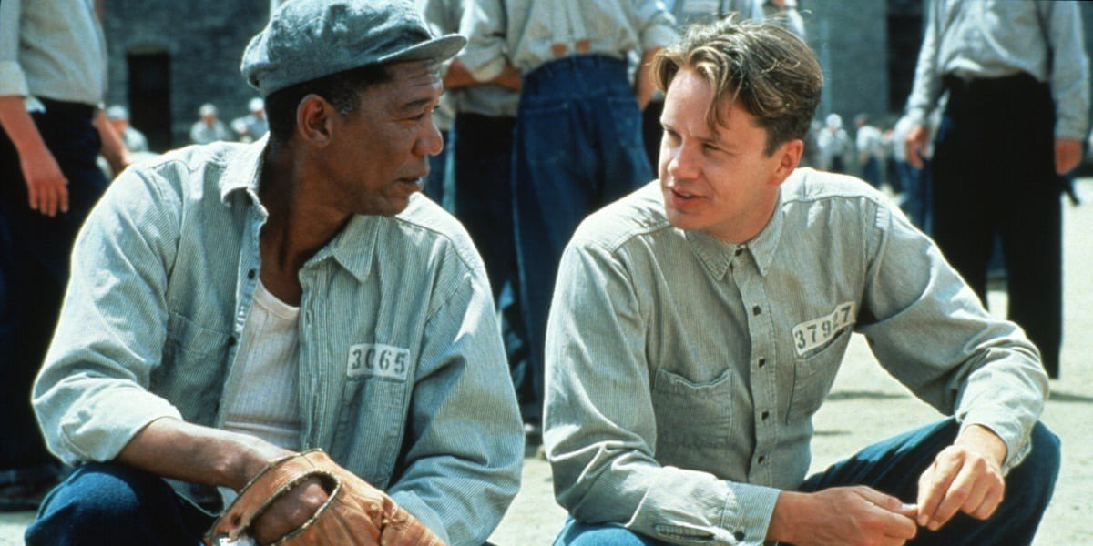 From left to right: Morgan Freeman and Tim Robbins