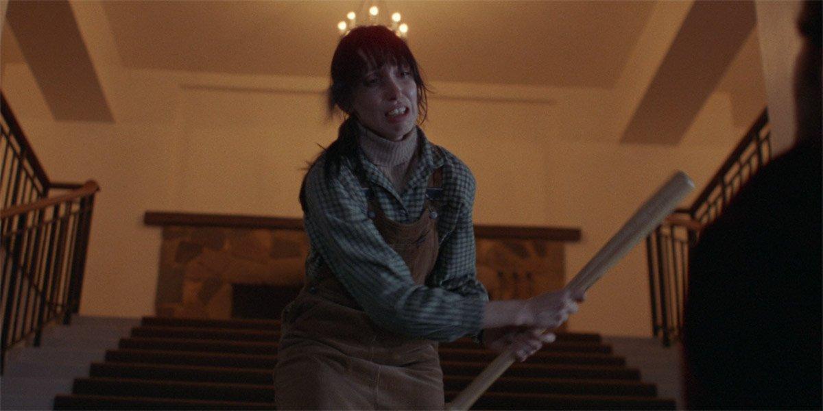 Shelley Duvall in The Shining waving a bat