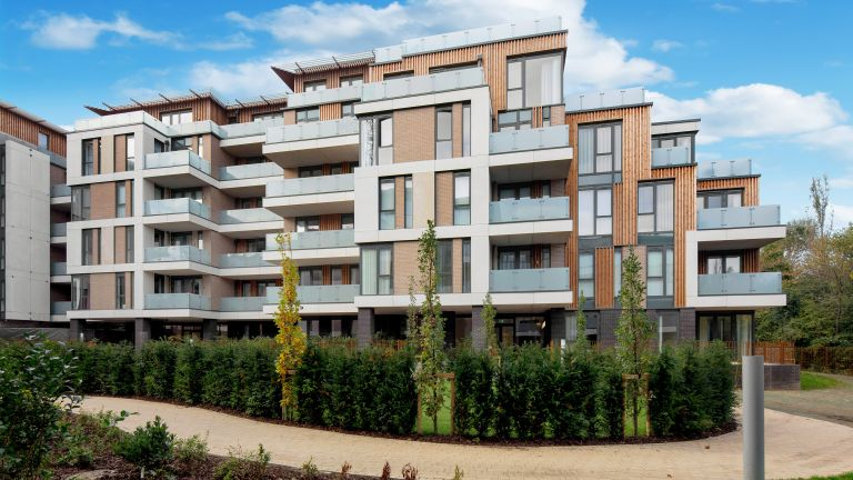 Exterior of shared ownership scheme flats in London