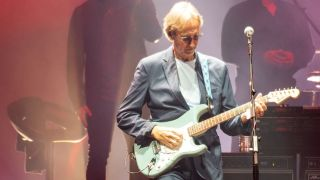 Mike Rutherford of Genesis performs on stage during 'The Last Domino?' tour at The SSE Hydro on October 07, 2021 in Glasgow, Scotland.