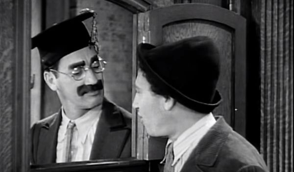 Groucho and Chico at a speakeasy in Horse Feathers