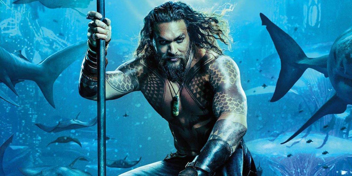 Jason Momoa as Aquaman in poster
