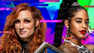 SmackDown Women's Champion Becky Lynch and Bianca Belair, who will face off at WWE Extreme Rules 2021
