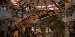 The T-Rex in Jurassic Park