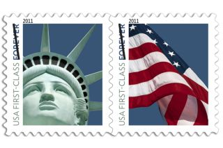 The new 2011 Forever stamp featuring the Statue of Liberty