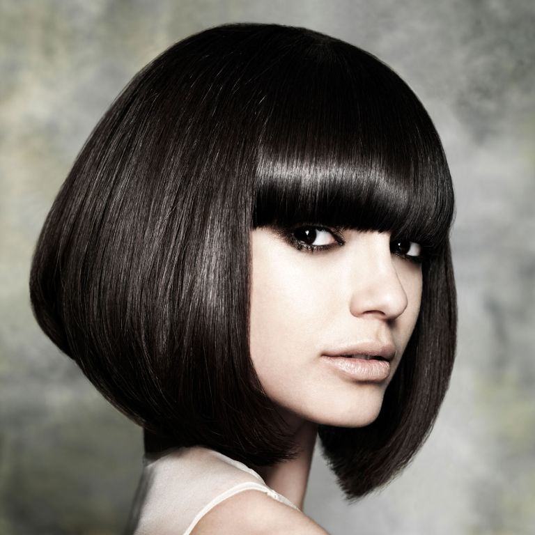 Photo of a model with a black hairstyle