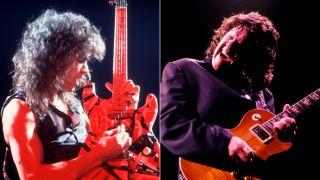 Eddie Van Halen and Gary Moore