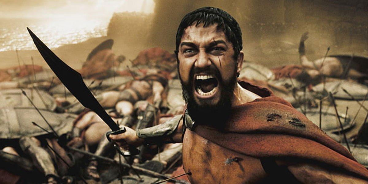 Leonidas in 300, a film by Zack Snyder.
