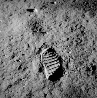 Apollo 11 Bootprint on the Moon