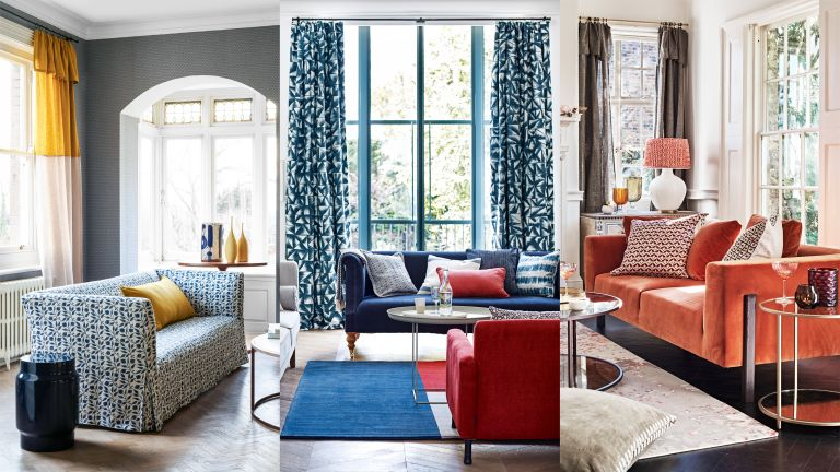 A composite of living room curtain ideas