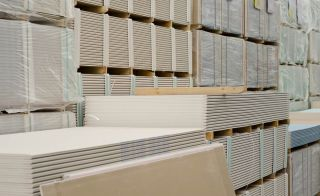 Plasterboard supplies are increasing