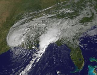 Tropical Storm Harvey in visible-light