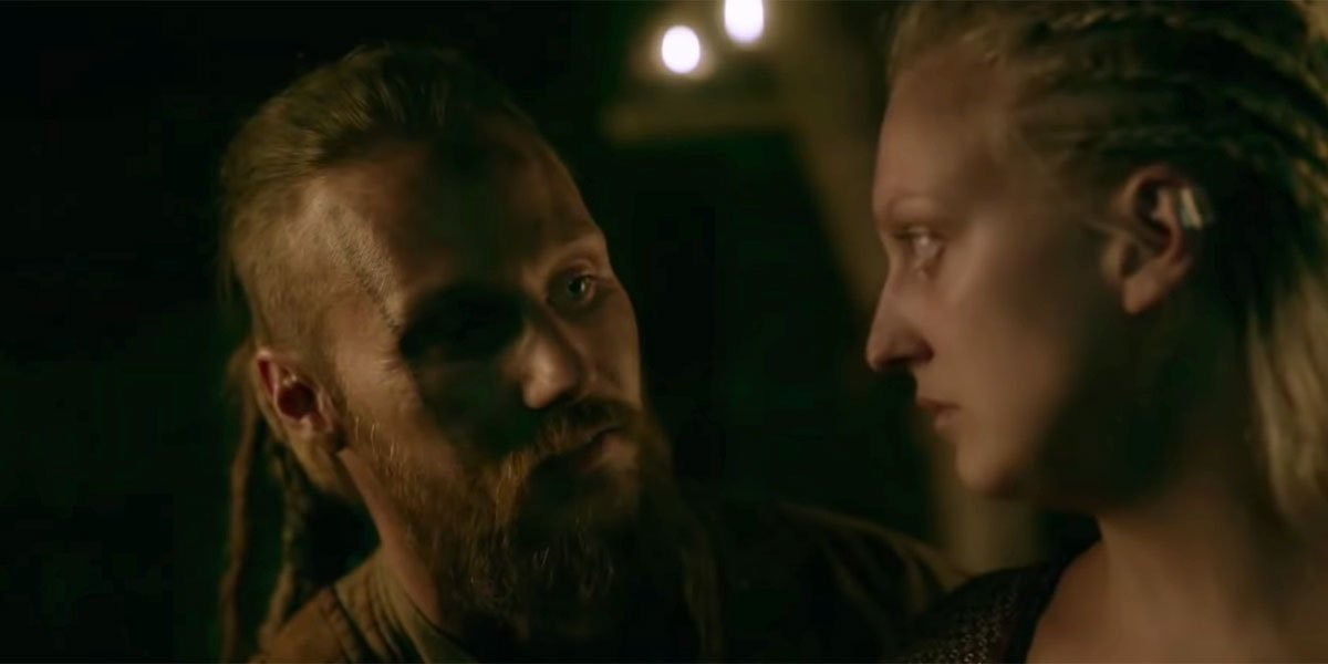 Ubbe and Torvi in Iceland, Vikings on Amazon Prime screenshot