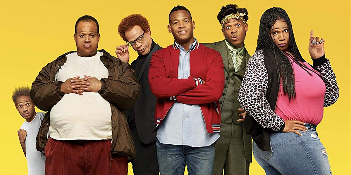 Marlon Wayans as six characters in Sextuplets