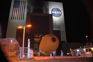 NASA Ships Shuttle External Tank Back to Factory