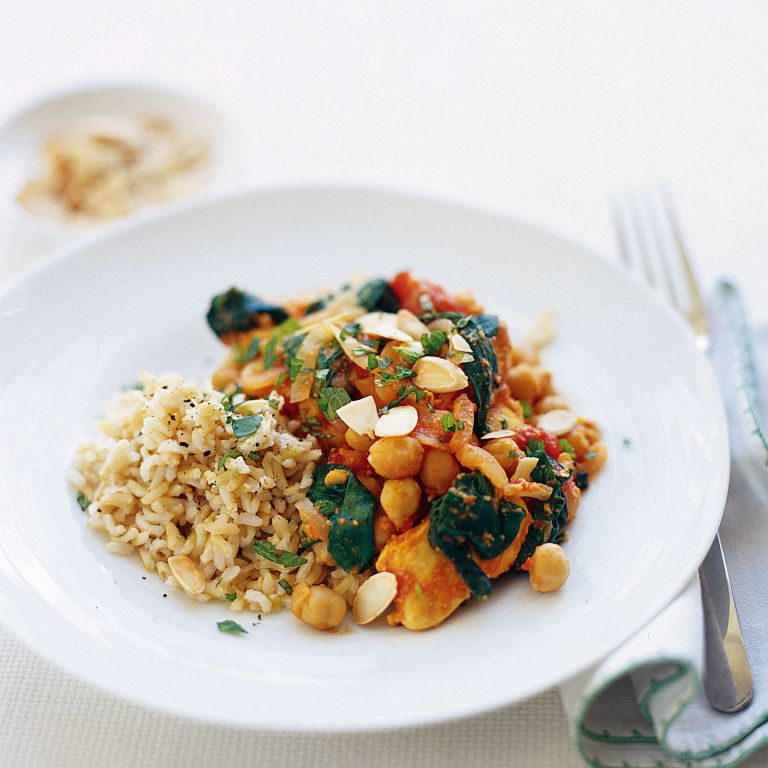 Chicken and Almond Curry with Spinach recipe-chicken recipes-recipe ideas-new recipes-woman and home