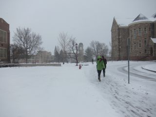 University of Denver snow