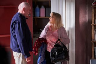 Ray Meagher and Belinda Giblin as Alf Stewart and Martha Stewart in Home and Away