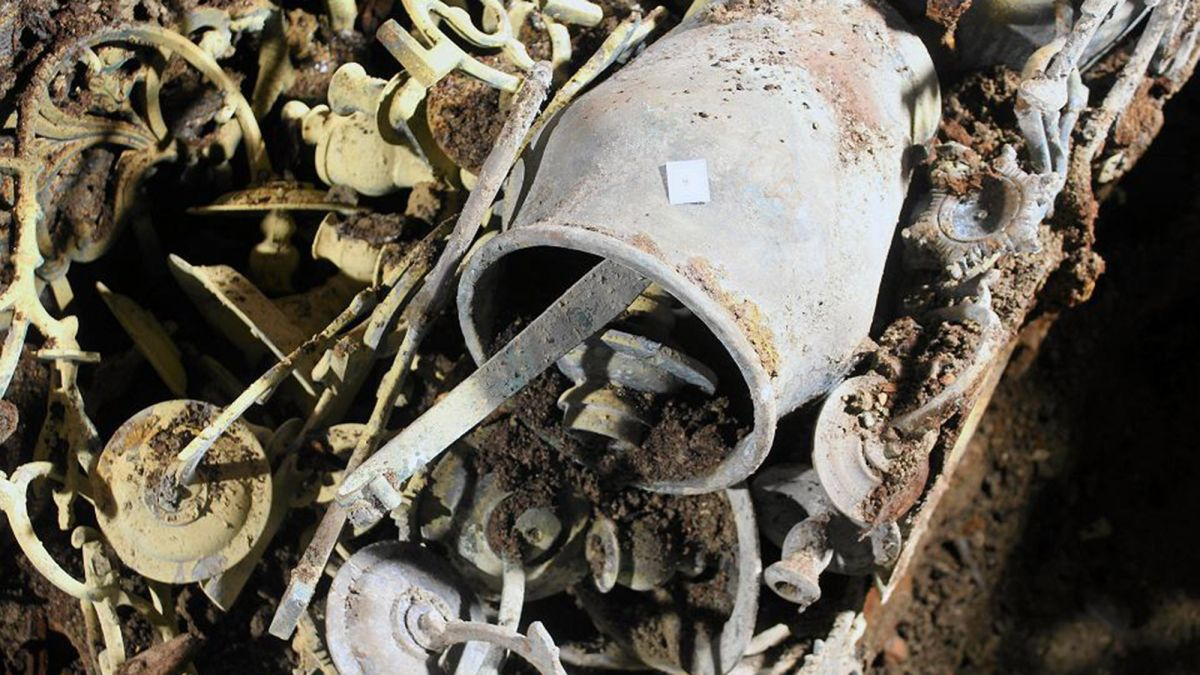 Trove of Jewish artifacts discovered beneath a synagogue destroyed by Nazis during WWII