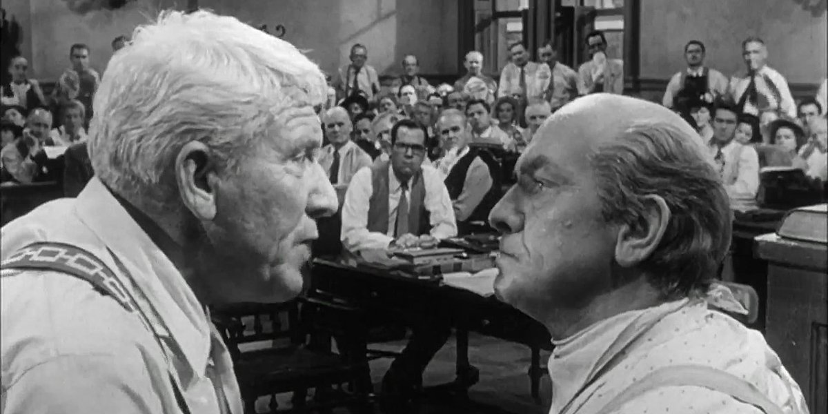 Spencer Tracy and Fredric March in Inherit the Wind