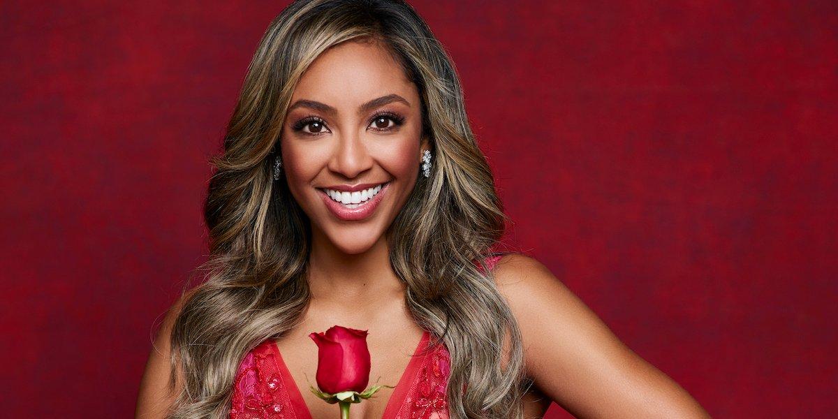 tayshia adams the bachelorette red dress 2020 season 16 abc