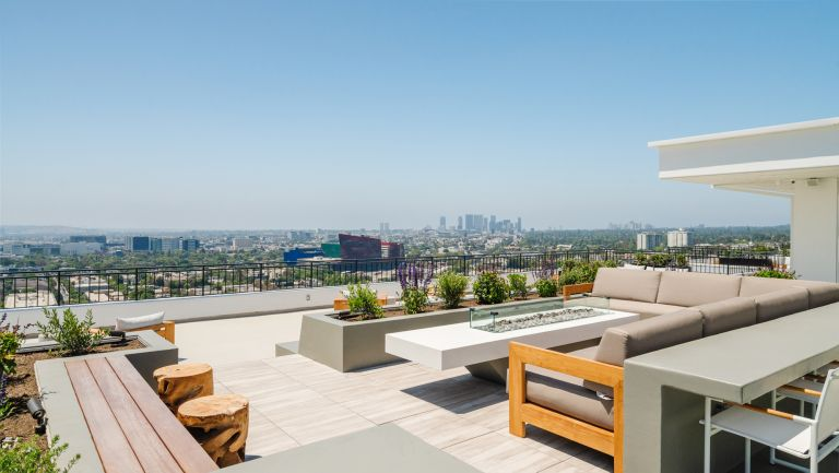 John Corbett's home with a rooftop pool overlooking Los Angeles