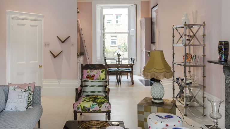 Pretty-pink London home
