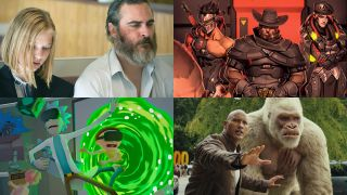 Overwatch Retribution, Rick and Morty Virtual Rick-ality, Rampage and You Were Never Really Here