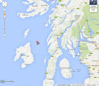 Scottish island of Jura missing from Google Maps