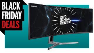 Black Friday banner for Samsung monitor