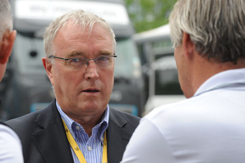 UCI president Pat McQuaid, Andy Jones at the Tour de France 2010