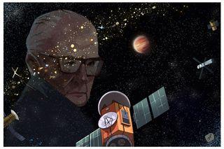 Arthur C. Clarke Exobelt and portrait