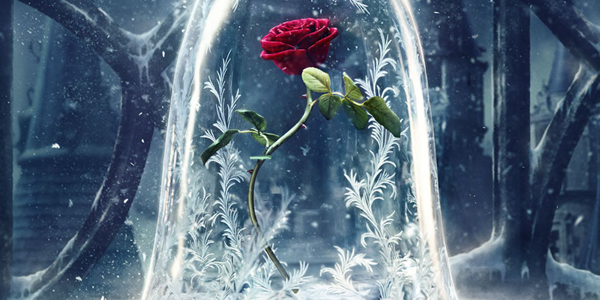 the enchanted rose in beauty and the beast 2017